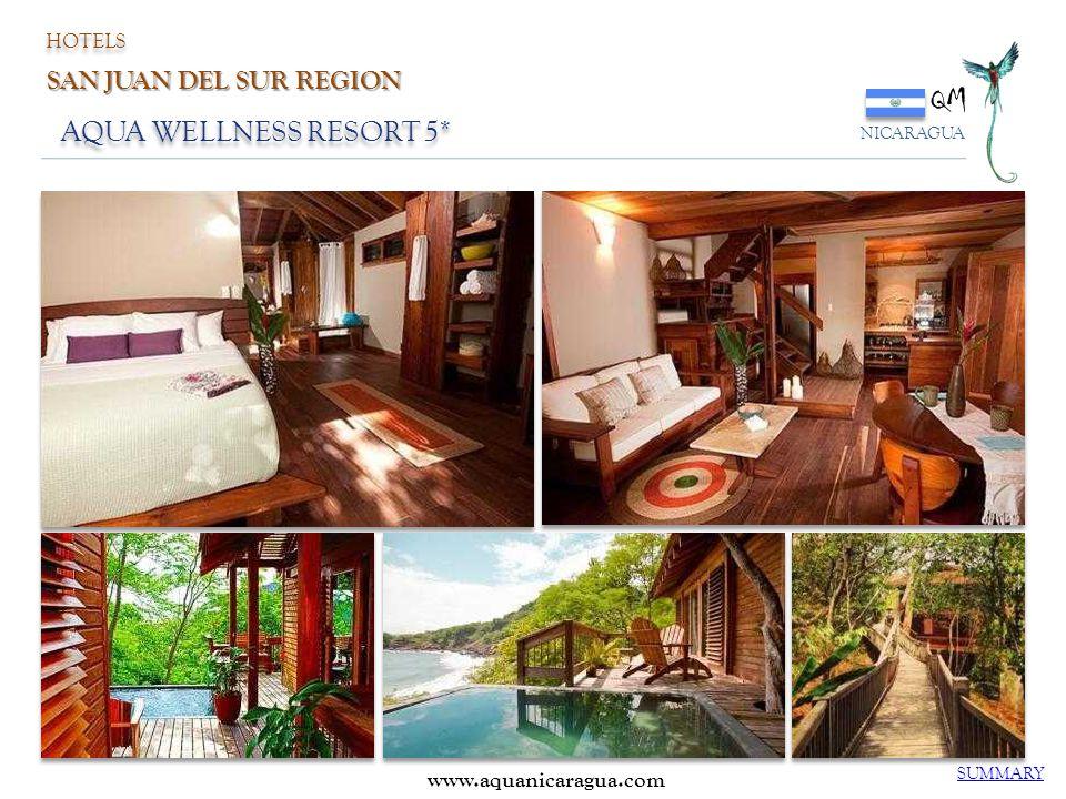 QM NICARAGUA AQUA WELLNESS RESORT 5* SUMMARY HOTELS SAN JUAN DEL SUR REGION www.aquanicaragua.com