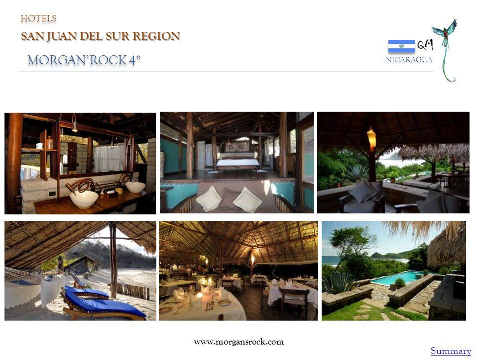 MORGAN'ROCK 4* QM NICARAGUA HOTELS SAN JUAN DEL SUR REGION www.morgansrock.com Summary