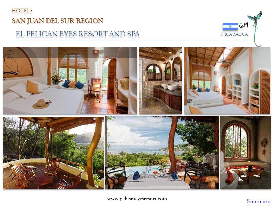 EL PELICAN EYES RESORT AND SPA QM NICARAGUA www.pelicaneyesresort.com HOTELS SAN JUAN DEL SUR REGION Summary