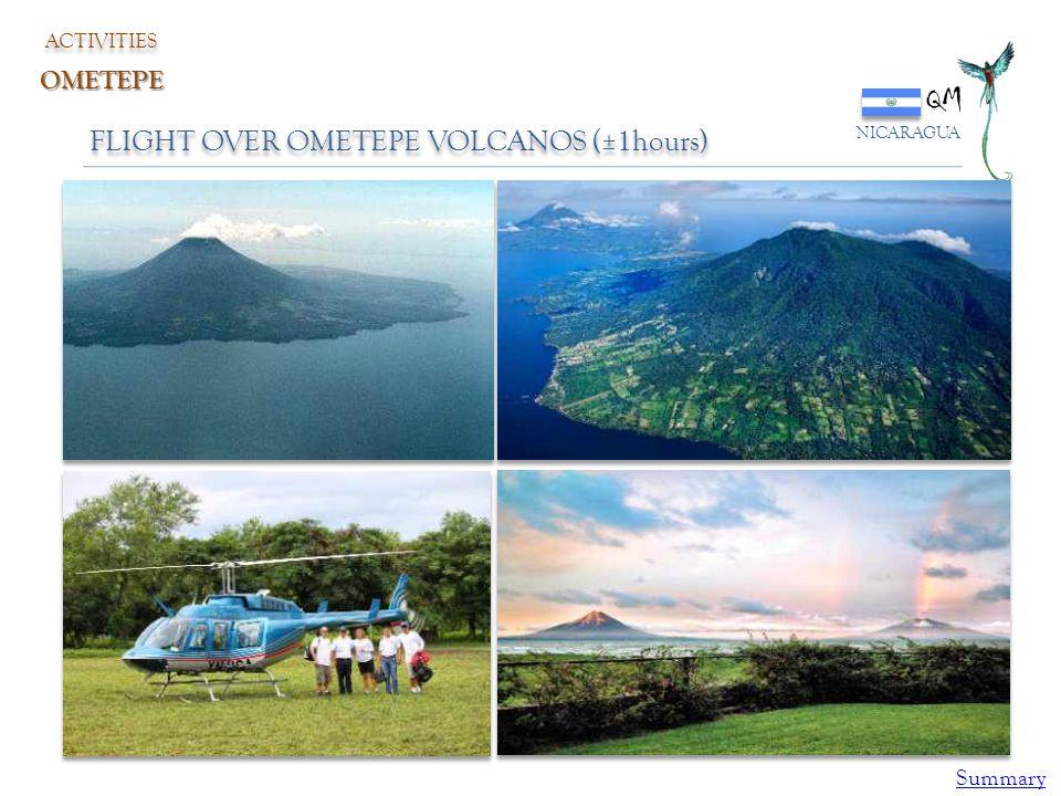 QM NICARAGUA ACTIVITIES OMETEPE FLIGHT OVER OMETEPE VOLCANOS (±1hours) Summary
