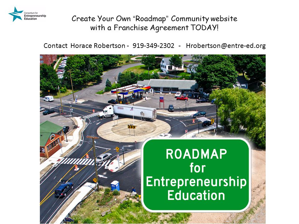 Create Your Own Roadmap Community website with a Franchise Agreement TODAY.
