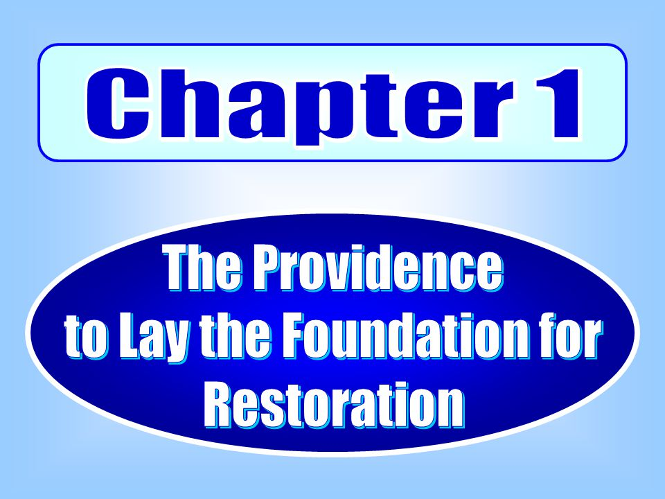 In this way, God began a new dispensation for the purpose of restoring through indemnity Abraham's failure.