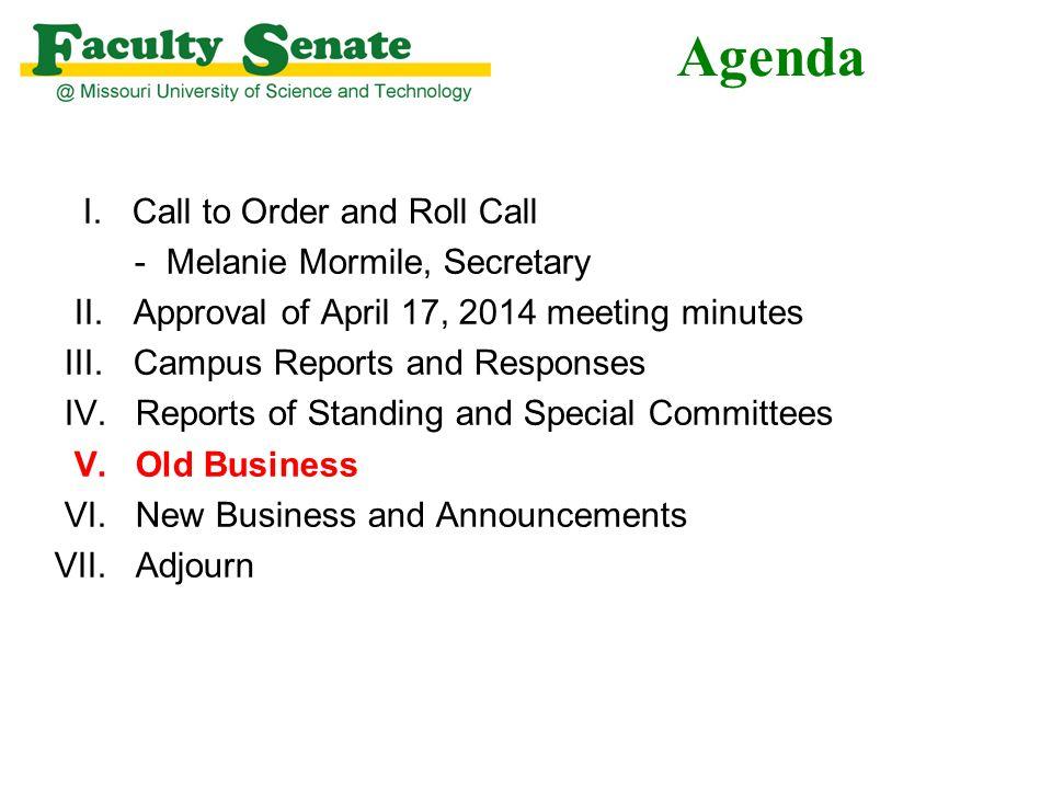Agenda I.