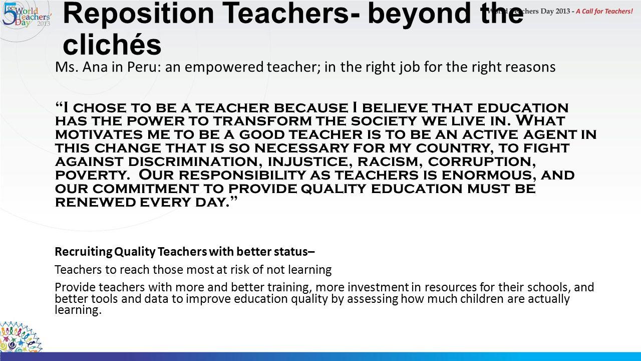 Reposition Teachers- beyond the clichés Ms.