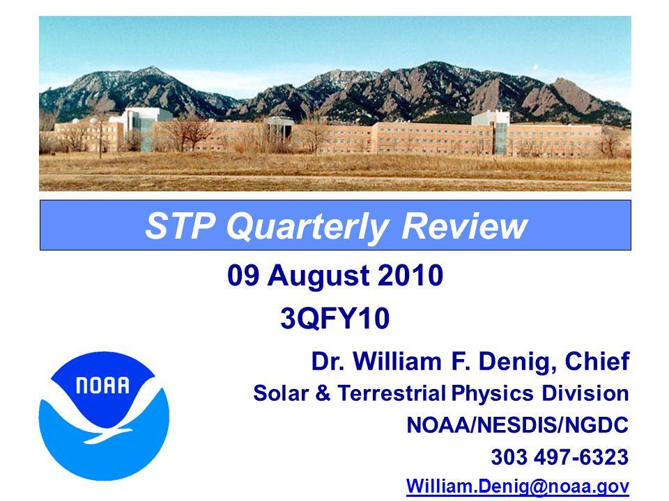 STP Quarterly Review Dr. William F.