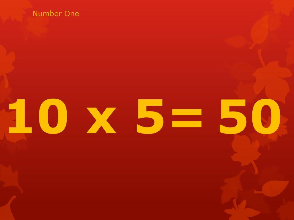 11 x 6= 66 Number twenty two