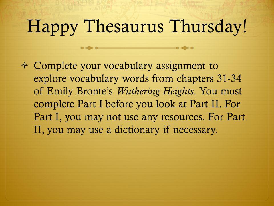 Happy Thesaurus Thursday.