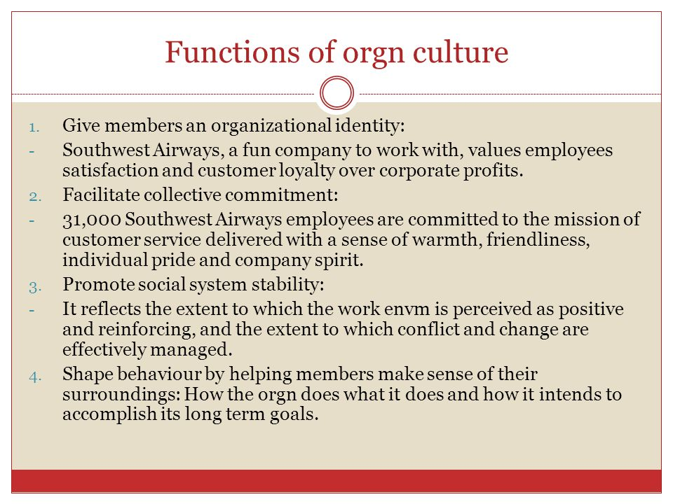 Layers of orgn culture 3. Basic assumptions: - Basic underlying assumptions are unobservable and represent the core of orgn culture. - The constitute