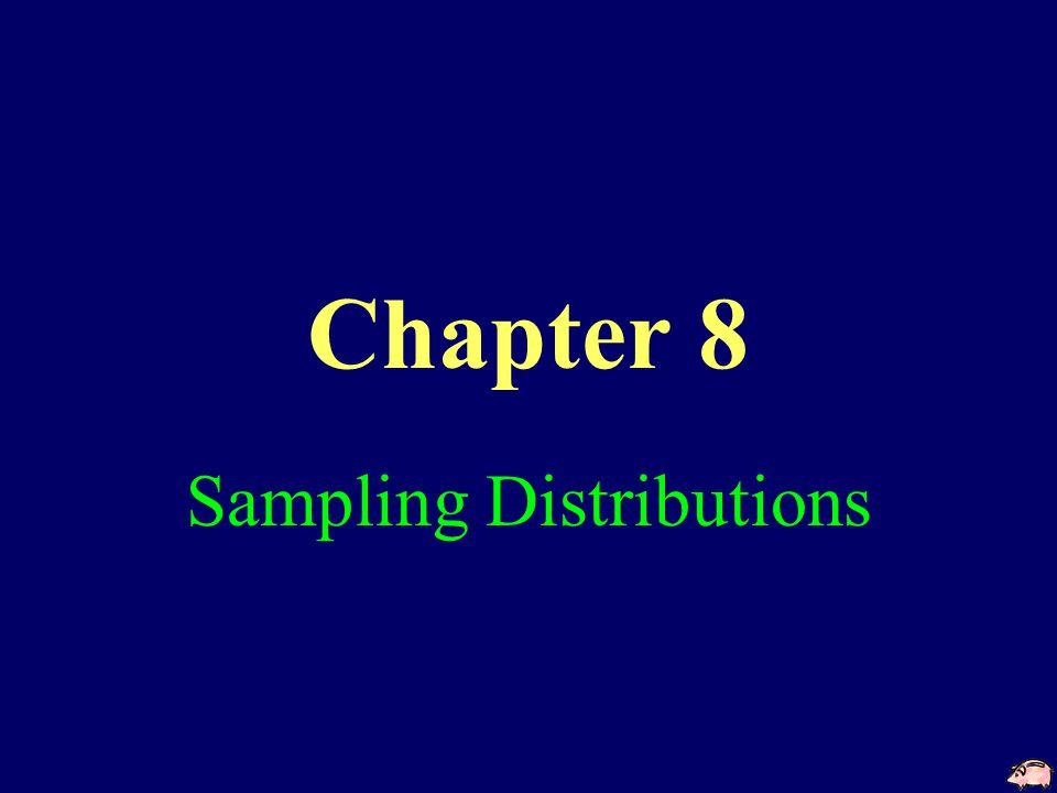 Chapter 8 Sampling Distributions