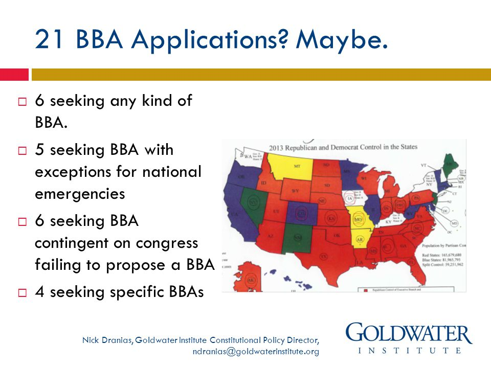 21 BBA Applications. Maybe.  6 seeking any kind of BBA.
