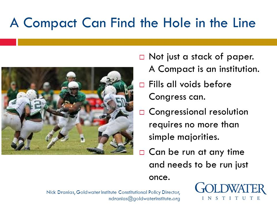 A Compact Can Find the Hole in the Line  Not just a stack of paper.