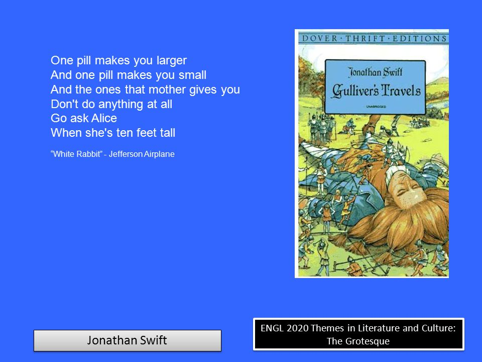 ENGL 2020 Themes in Literature and Culture: The Grotesque Jonathan Swift A Voyage to Lilliput