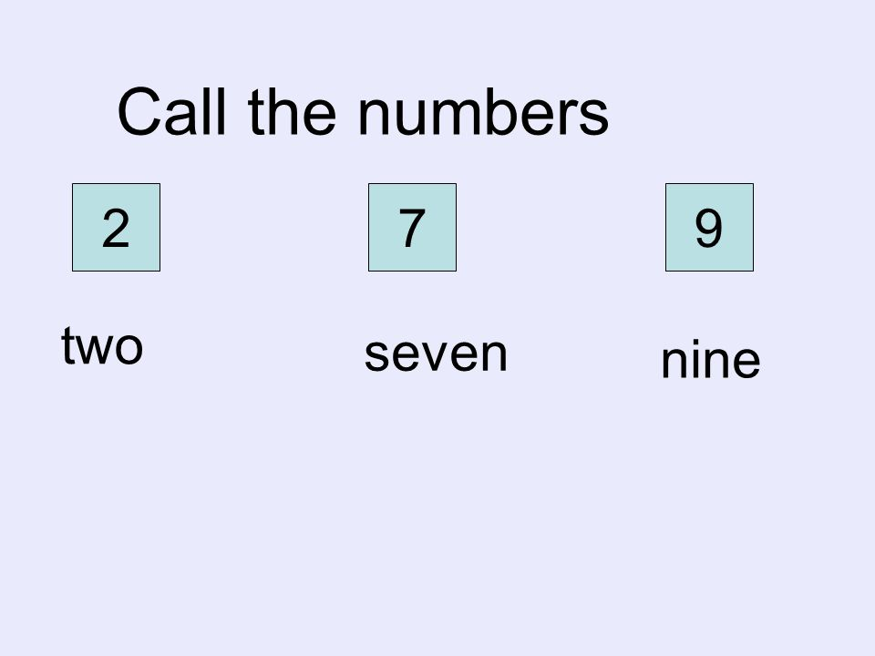 six eight four Call the numbers 6 8 4