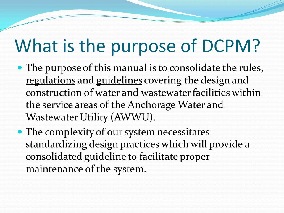 Organization – Example Change 2011 DCPM – Pavement removal Previous Location Section 30 – Sewer