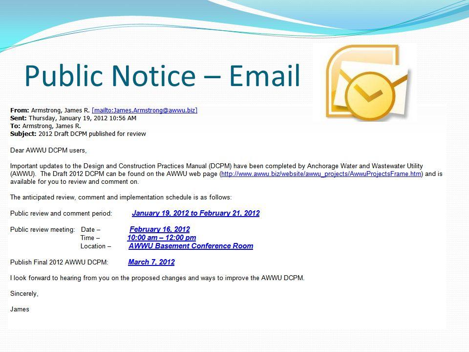 Public Notice – Email