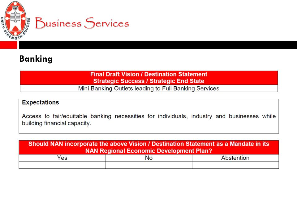 Business Services Banking