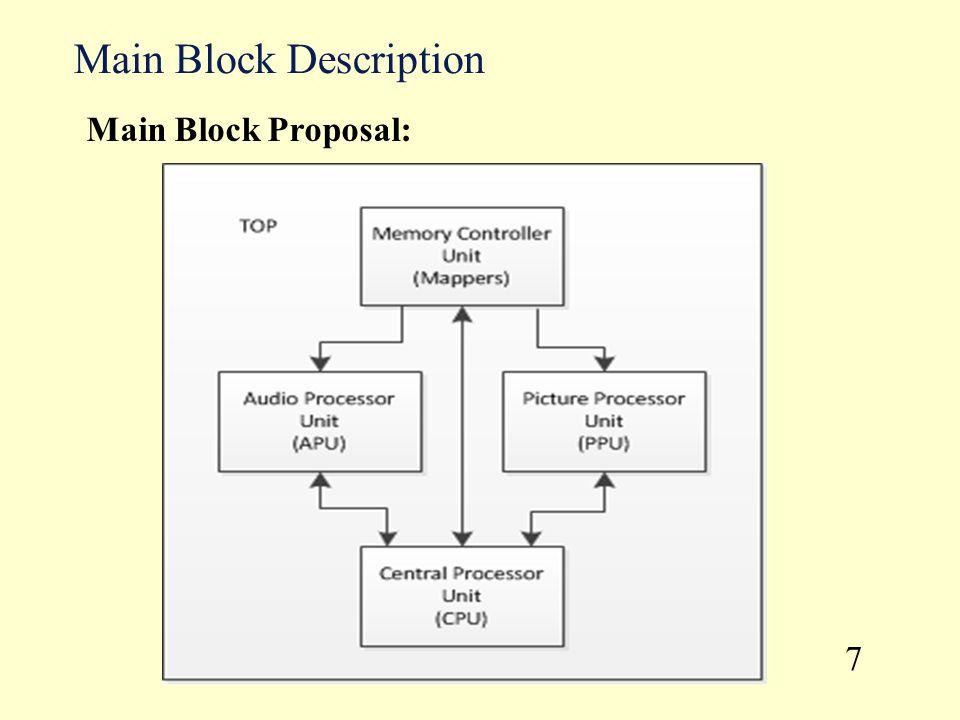 Main Block Description 7 Main Block Proposal: