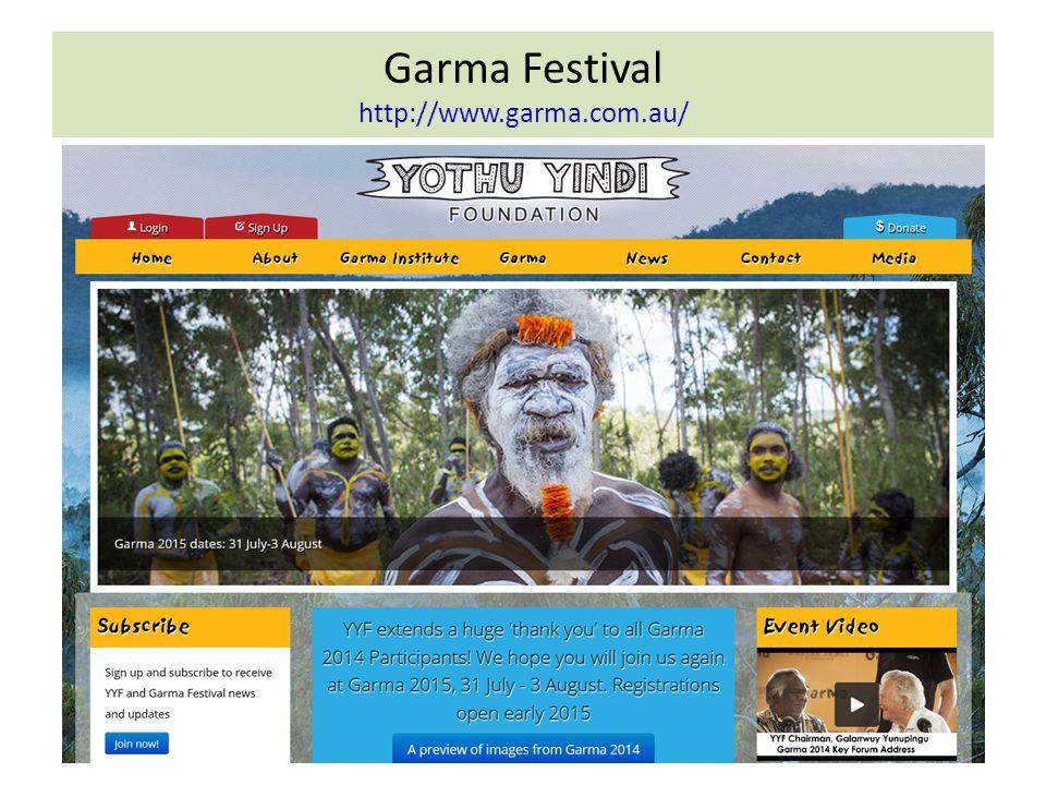 Garma Festival http://www.garma.com.au/