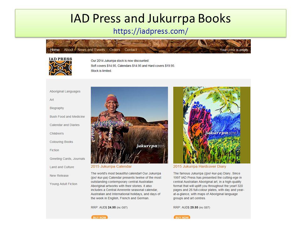 IAD Press and Jukurrpa Books https://iadpress.com/