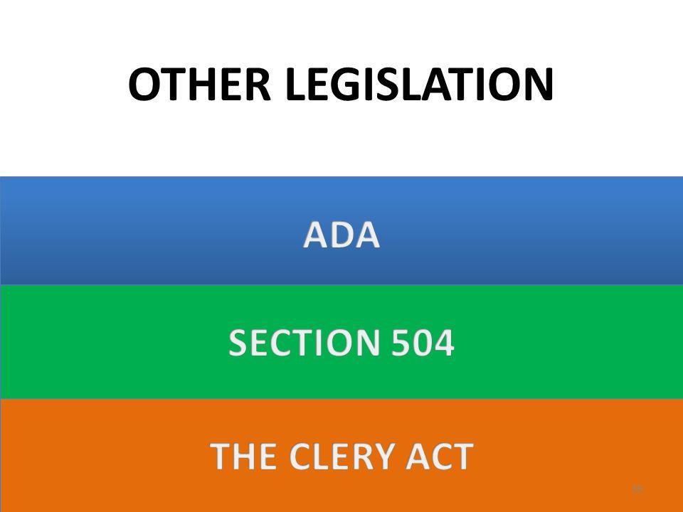 OTHER LEGISLATION 39