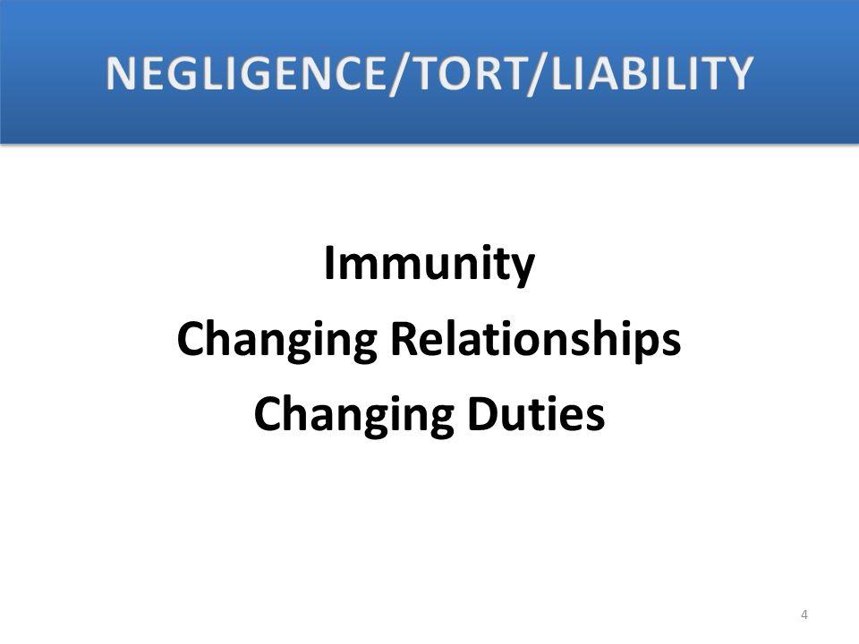 Immunity Changing Relationships Changing Duties 4