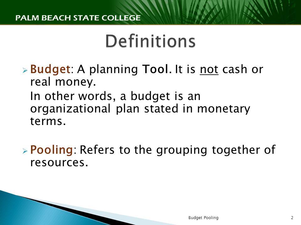 Budget Pooling1
