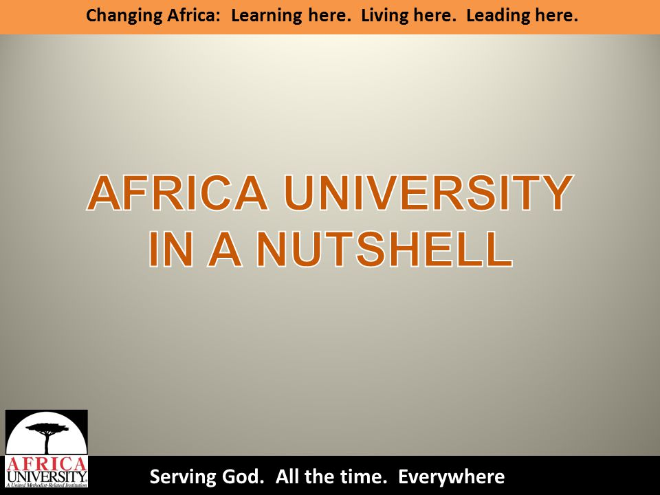 FOR INVESTING IN AFRICA'S FUTURE THANK YOU