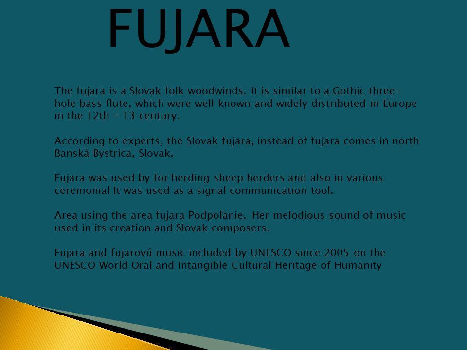 The fujara is a Slovak folk woodwinds.