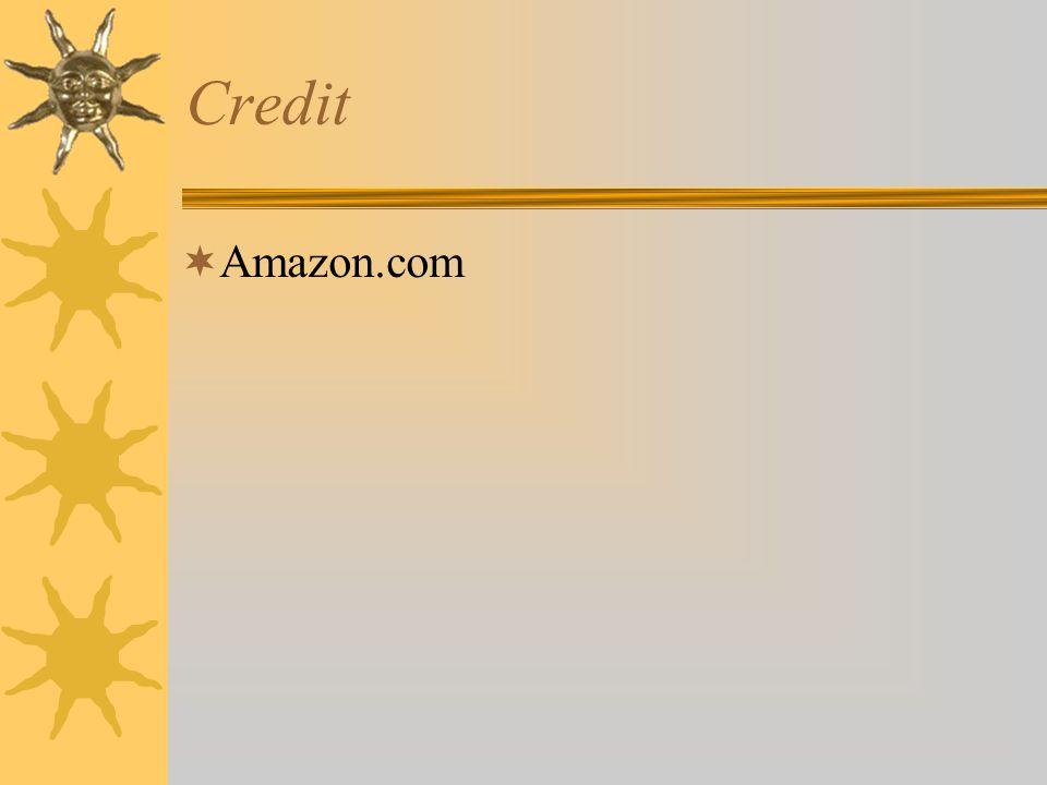 Credit  Amazon.com