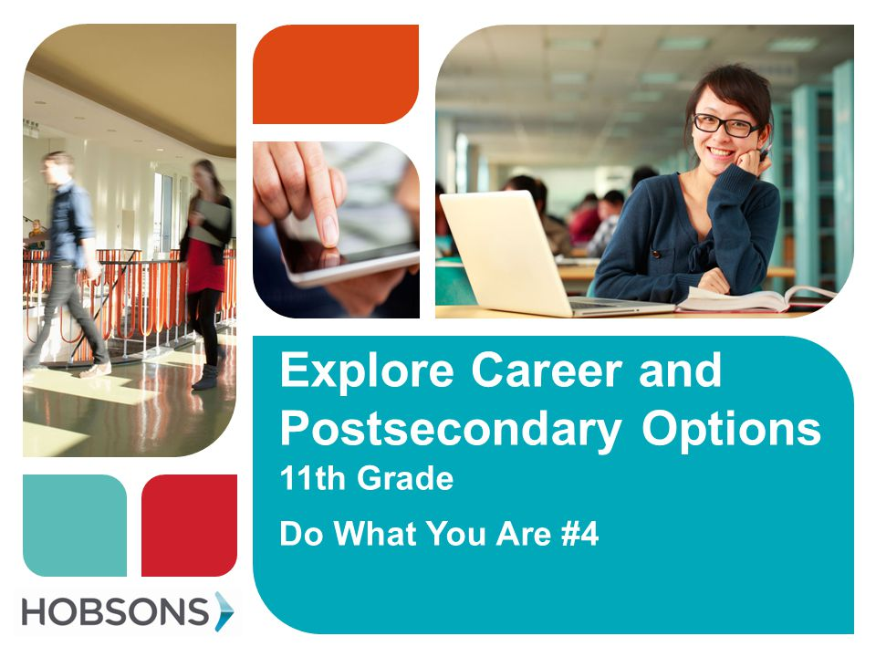 Objectives Identify personality type Identify top two career clusters Locate careers of interest list in Naviance Find postsecondary options that align with careers of interest