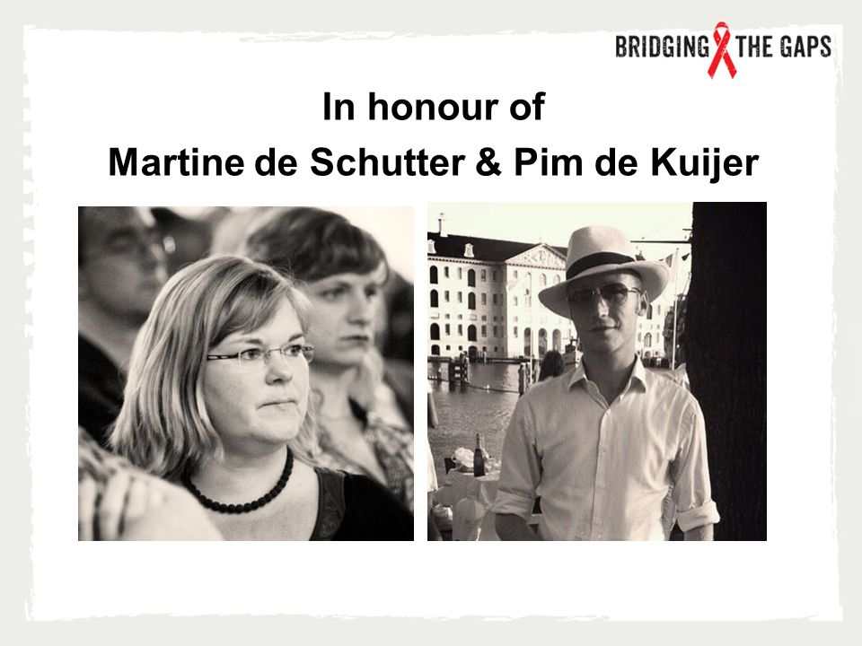 In honour of Martine de Schutter & Pim de Kuijer
