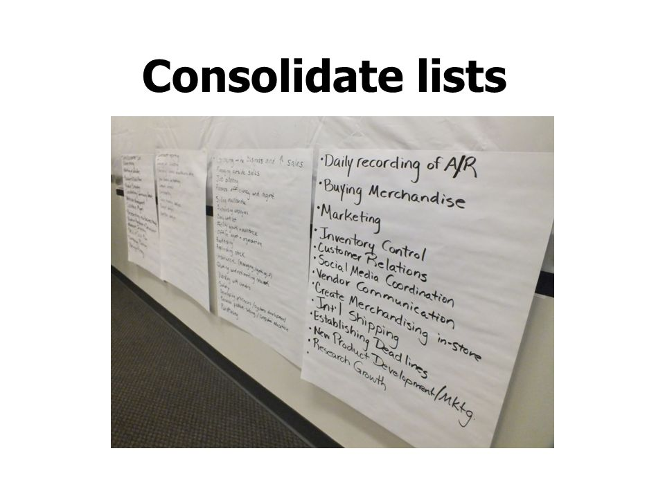 Consolidate lists