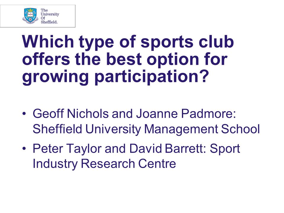 Which type of sports club offers the best option for growing participation.