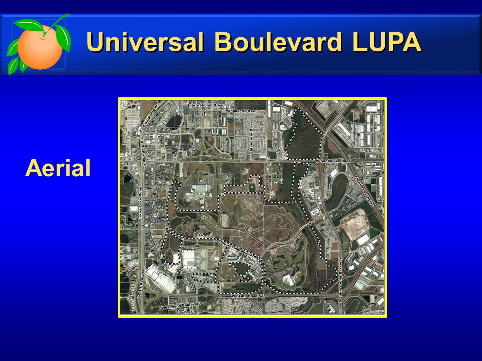 Aerial Universal Boulevard LUPA