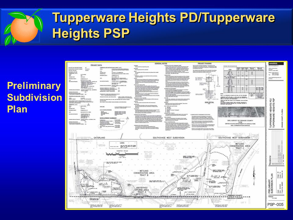 Preliminary Subdivision Plan Tupperware Heights PD/Tupperware Heights PSP