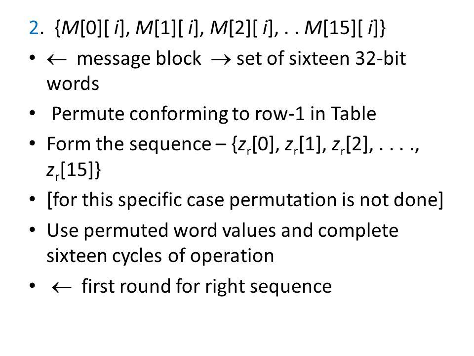 2. {M[0][ i], M[1][ i], M[2][ i],..