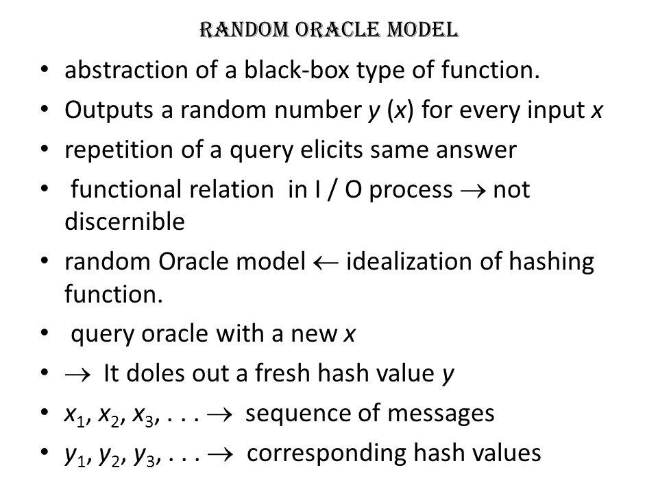 Iterative hashing scheme