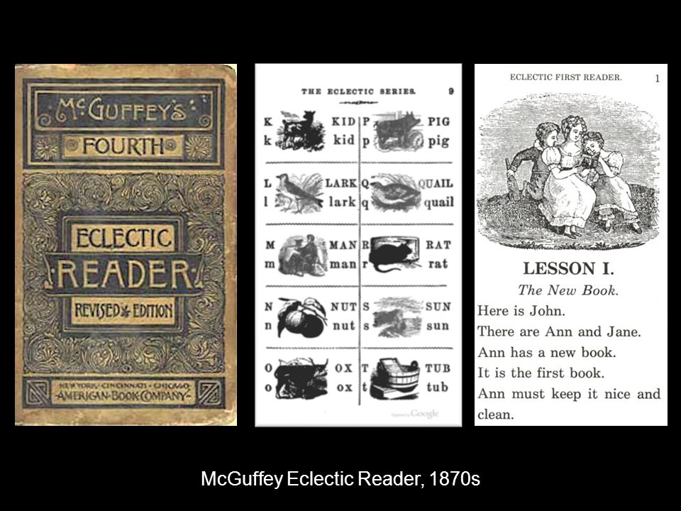 McGuffey Eclectic Reader, 1870s