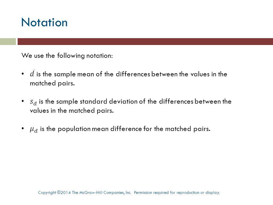 Assumptions Copyright ©2014 The McGraw-Hill Companies, Inc.