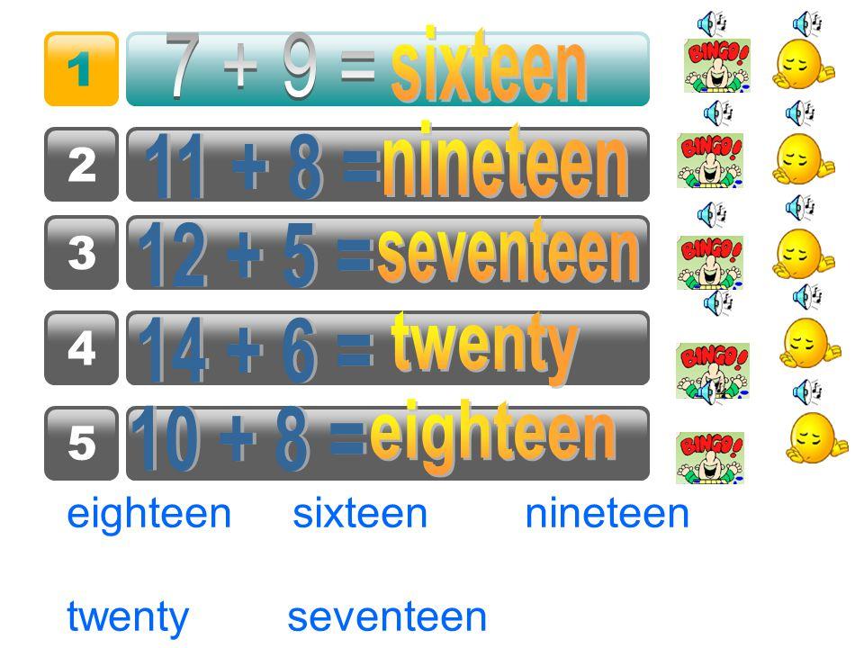 看看谁说得又对又快 ? eighteen twenty sixteen fifteen nineteen seventeen thirteen