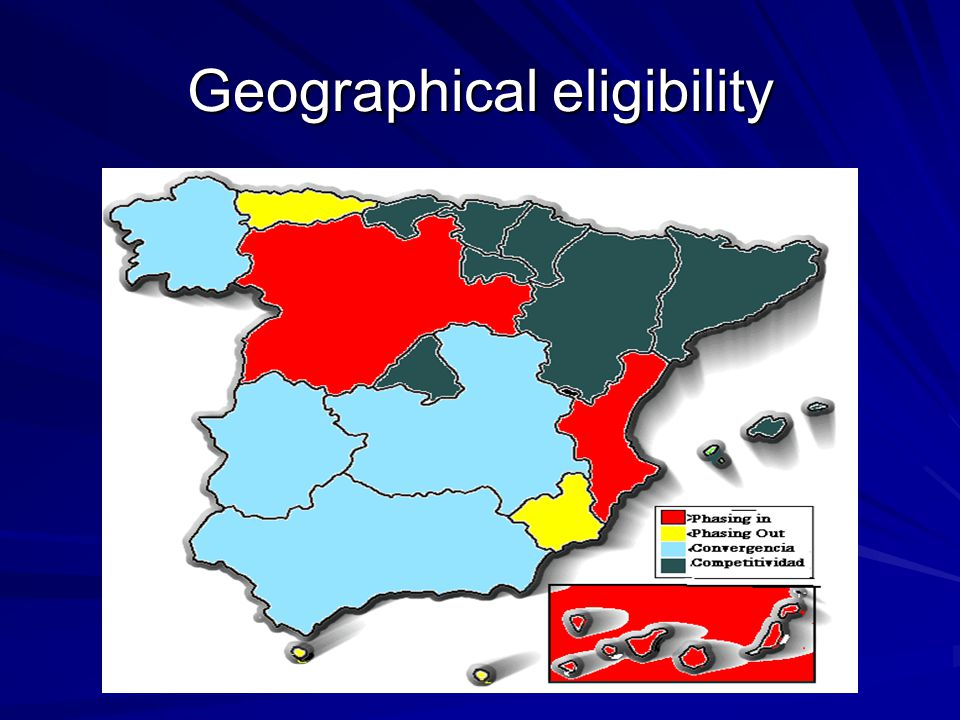 Geographical eligibility
