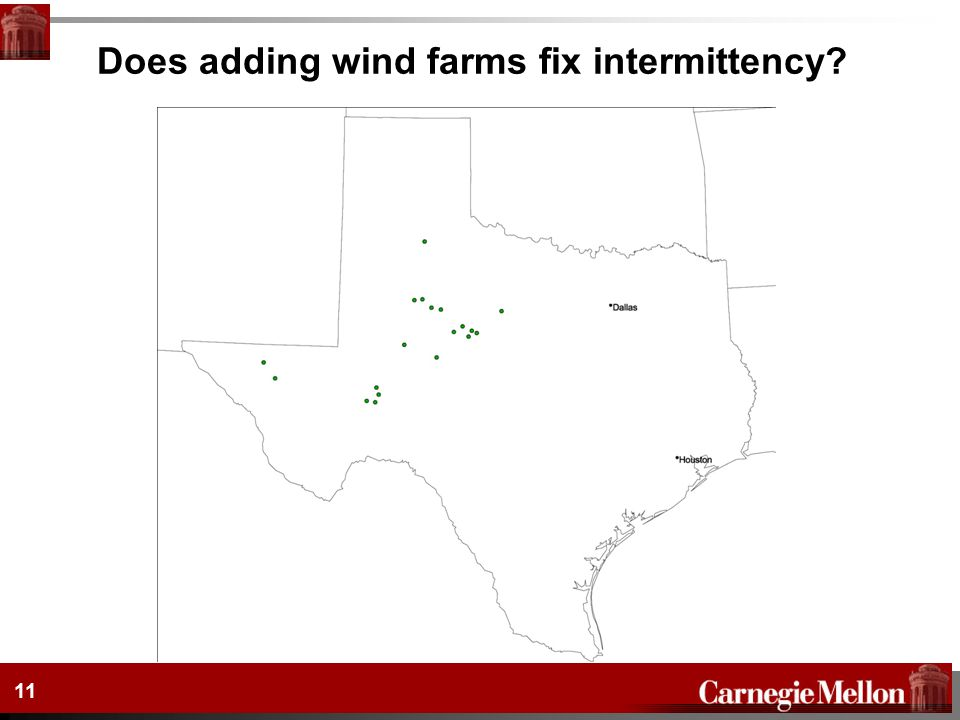 Does adding wind farms fix intermittency? 11