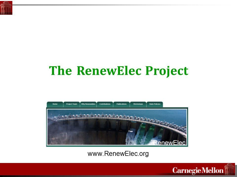 The RenewElec Project www.RenewElec.org