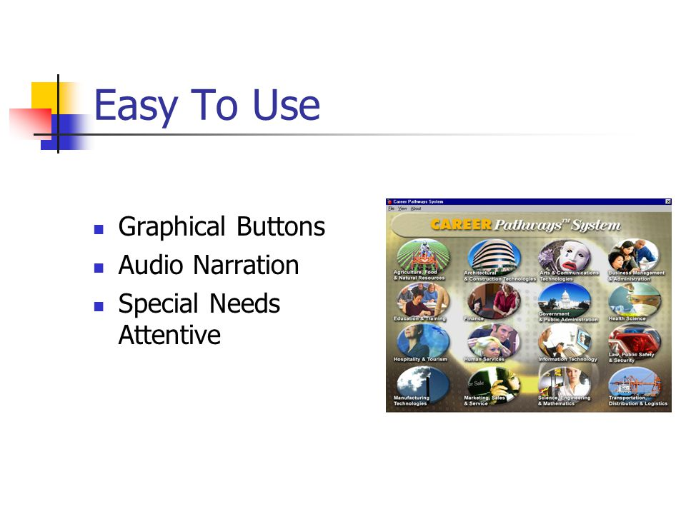 Easy To Use Graphical Buttons Audio Narration Special Needs Attentive