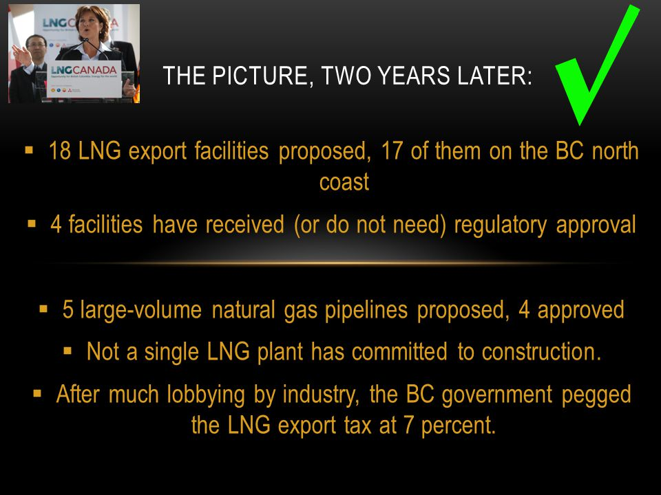 MORE OF THE THE PICTURE, TWO YEARS LATER:  Companies can deduct all capital costs before paying the 7 percent LNG tax, so any cost over-runs will be paid for by reduced taxes.