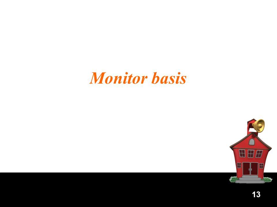 13 Monitor basis