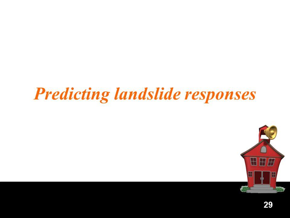 29 Predicting landslide responses
