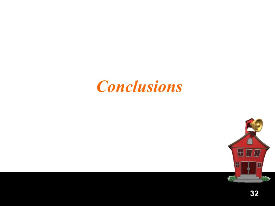 32 Conclusions