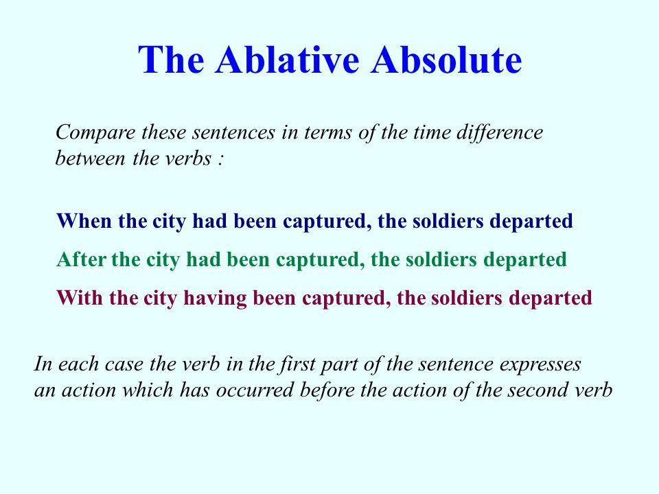In English we use the pluperfect tense to express an action which occurs before another action in the past.