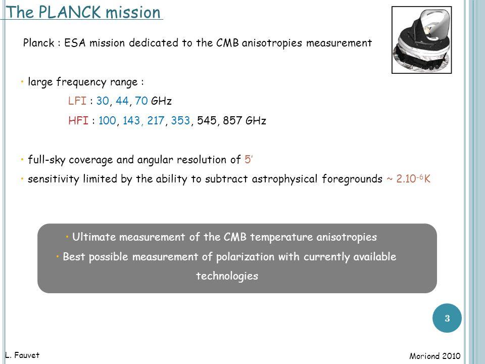 4 expected CMB measurements with Planck EE TT [PLANCK Bluebook,'the PLANCK collaboration, 2005] L.